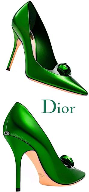 Green Dior Pumps #brilliantluxury