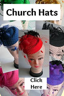 Modern, Sunday Church Hats for Women