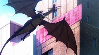 Smok latający w tokijskiej dzielnicy Ginza
