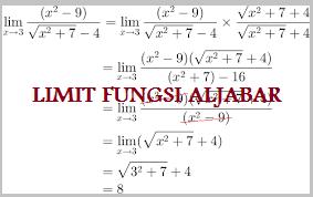 Soal Ulangan Harian Limit Fungsi Aljabar Matematika Kelas X SMA/MA Kurikulum 2013 dan Pembahasannya