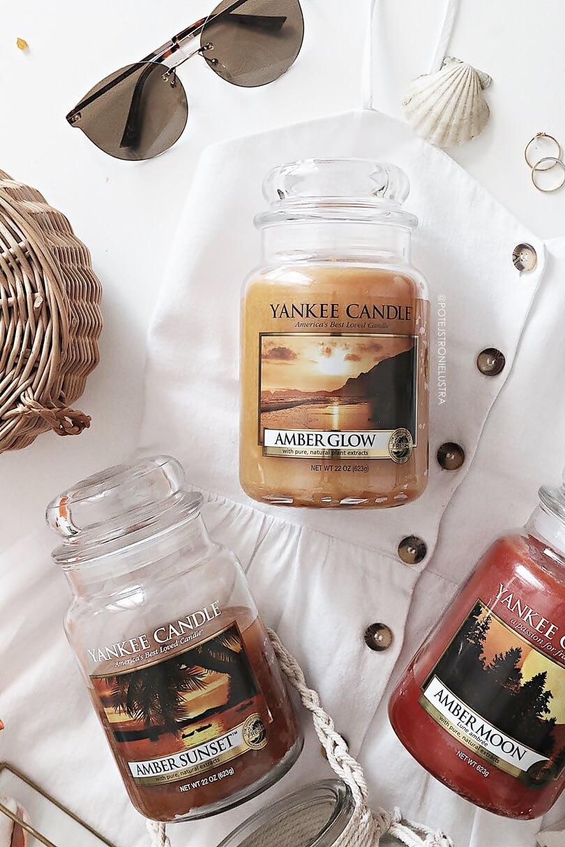 recenzja yankee candle amber glow na blogu