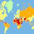 El mapa de los países más peligrosos del mundo