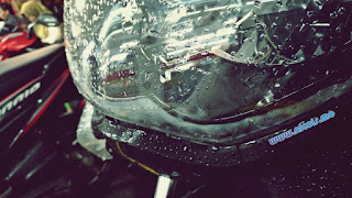 Lampu depan Nmax yang suka ngembun ketika hujan