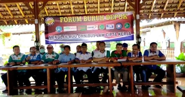Forum Buruh Kota Depok Tolak Keras RUU Omnibus Law Cipta Karya