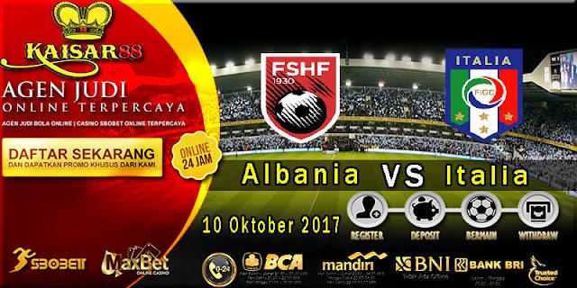 Prediksi bola terpercaya Liga World Cup Albania Vs Italy 10 Oktober 2017