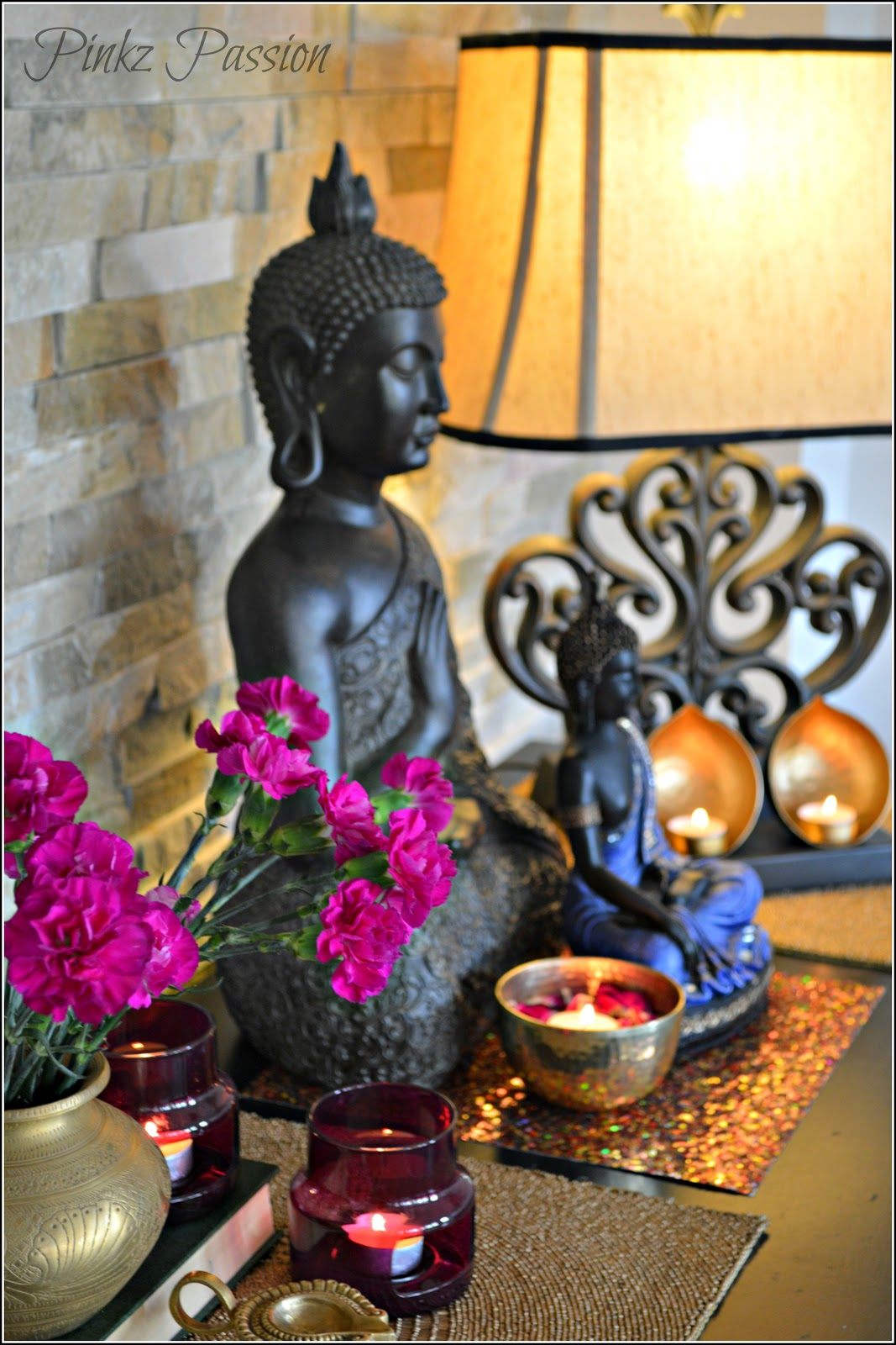 Pinkz passion diwali home tour living family rooms for Room decoration ideas in diwali