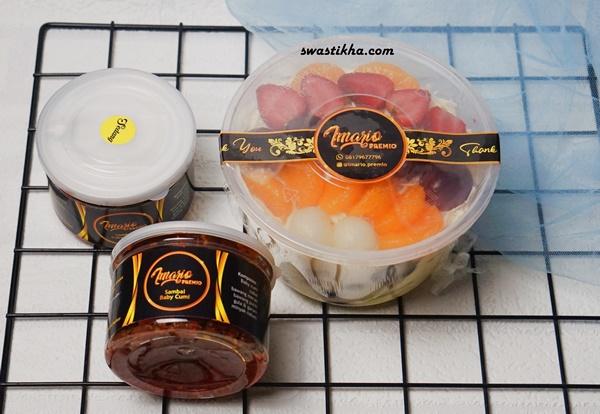 imario premio, salad buah premium, sambal baby cumi