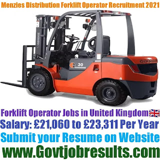 Menzies Distribution Forklift Operator Recruitment 2021-22