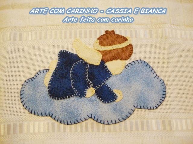 645d1237737fa ARTE COM CARINHO - CASSIA e BIANCA  TOALHAS DE MÃO - PATCH APLIQUÊ ...