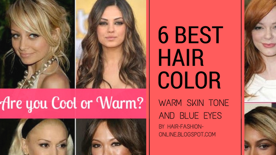 best hair colors warm skin tone and blue eyes 1