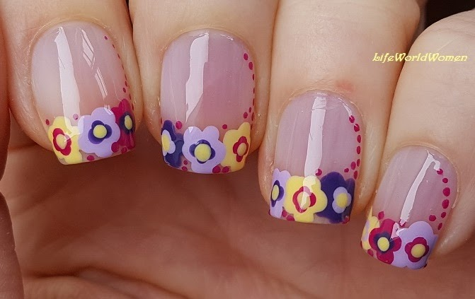 Today I Share An Easy Dotting Tool Flower French Nail Art