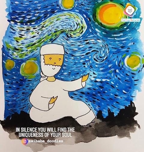Silence - Sai Baba Doodle Art Showcase