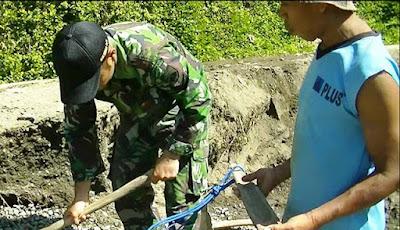 Kemanungalan TNI  Dengan Rakyat Semakin Nyata di TMMD Rempoah