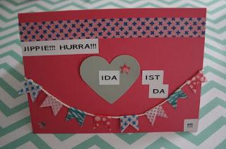 Babykarte Ida pink