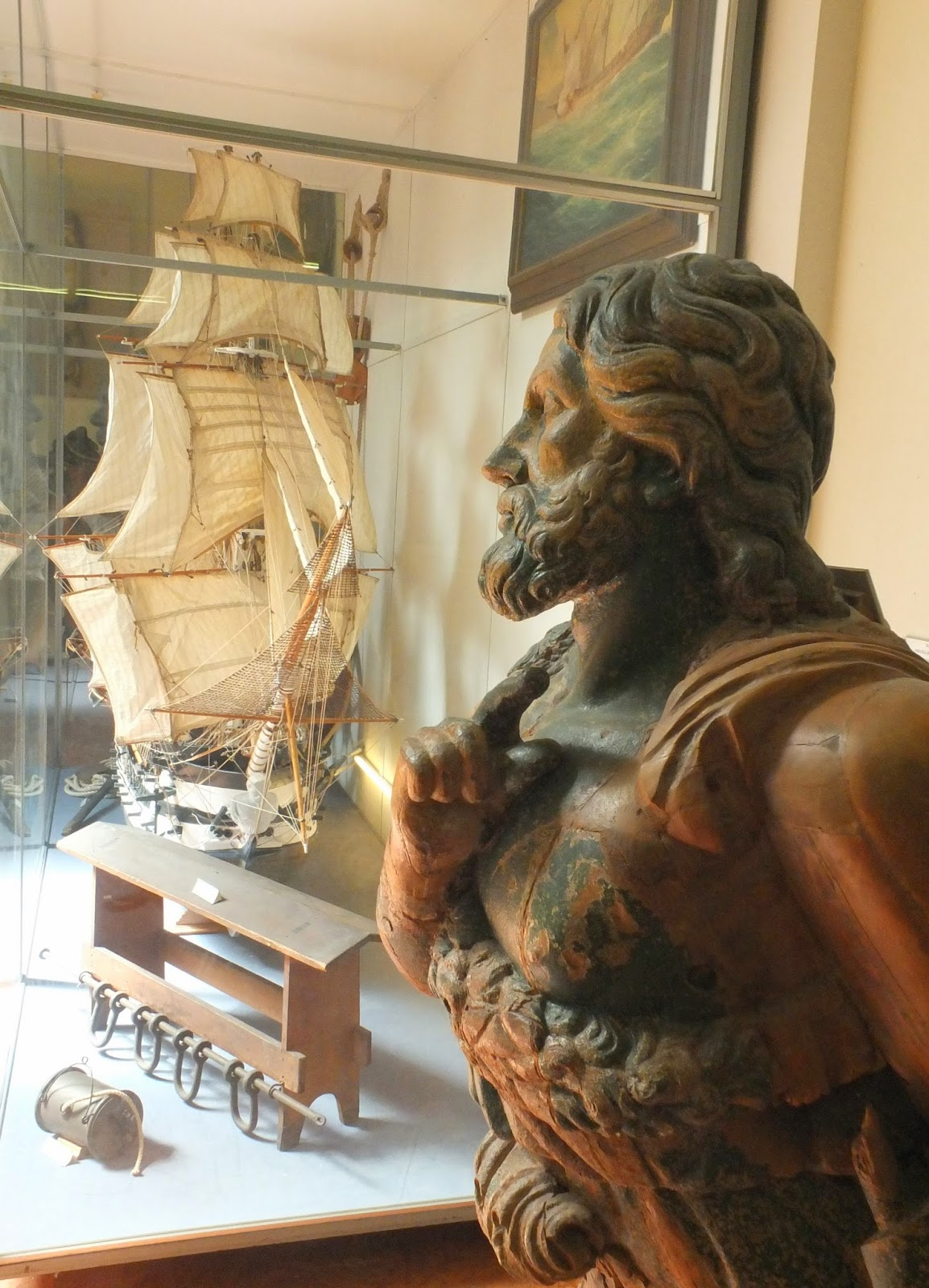 Figurehead and Ship Model, La Spezia