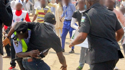 Two Sisters In Trouble After Beating & Tearing Policeman's Uniform In Lagos