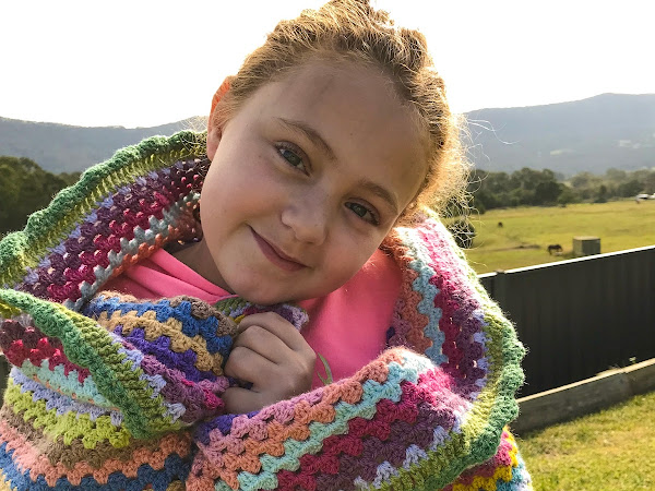 Crochet Granny Stripe Blanket {FINISH}