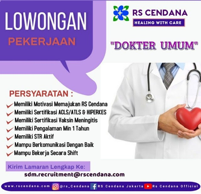 Loker Dokter RS Cendana Jakarta