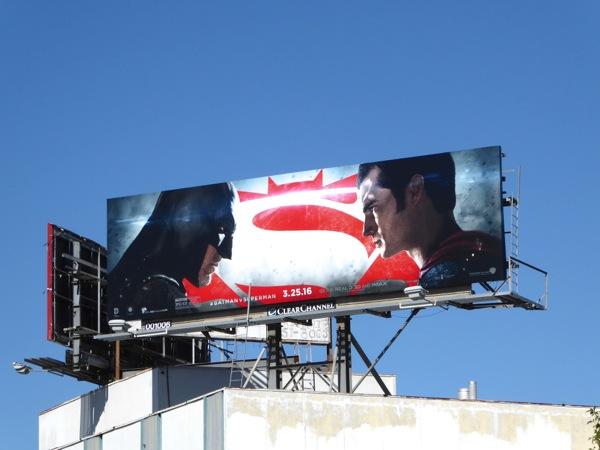 Batman v Superman film billboard