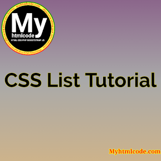 CSS List Tutorial