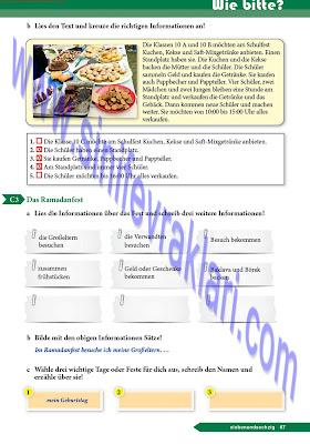 9. Sınıf Almanca A1.1 Ders Kitabı Cevapları Sayfa 67