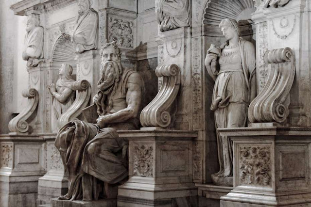 "Art Sculpture ""Moses"" by Michelangelo"