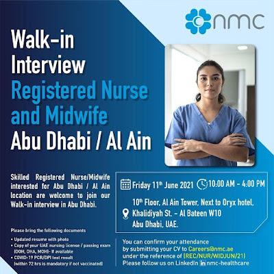 NMC Hospital Abu Dhabi / Al Ain Staff Nurses Walk - In Interview - Apply Now