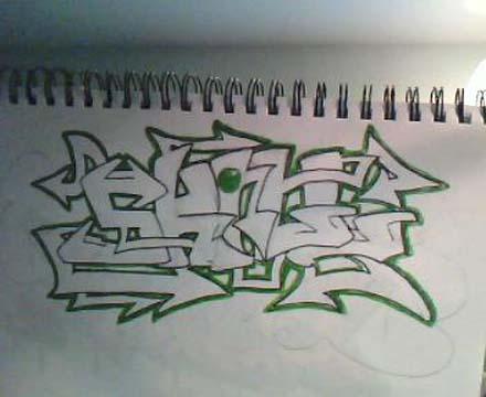 Drawing Graffiti Names On Paper By Graffiti Alphabet Crazy