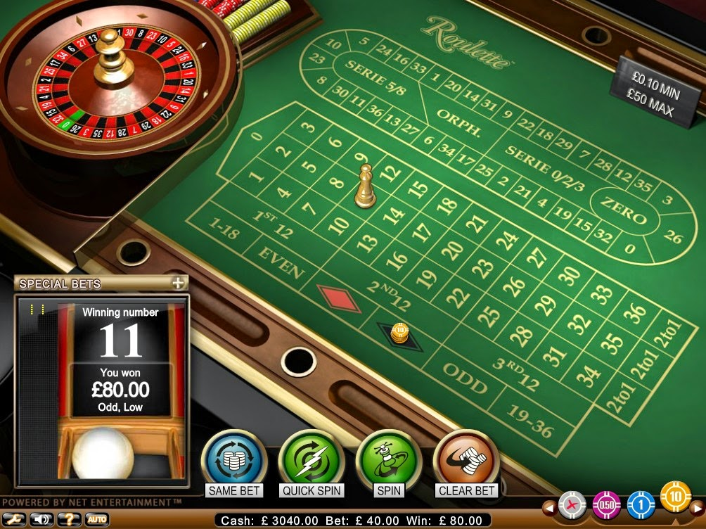Betsson Casino Roulette Screen