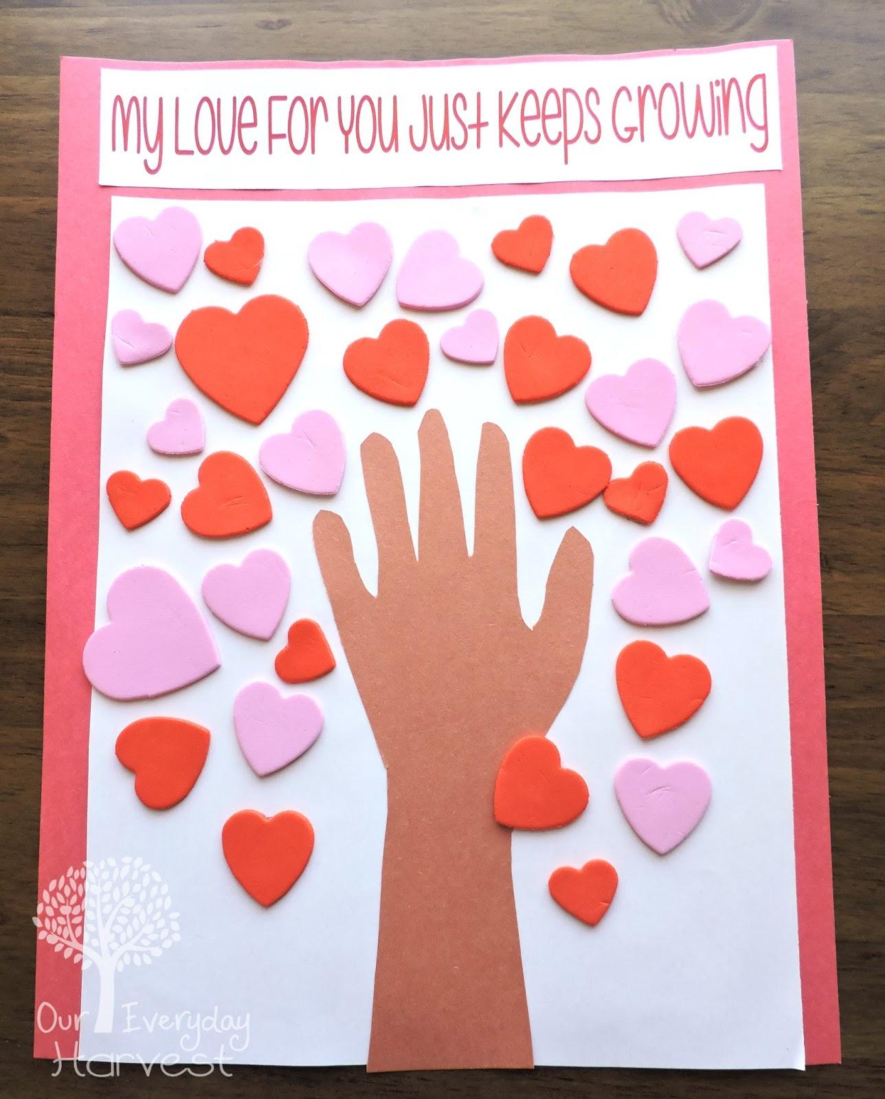 Valentine S Day Heart Tree Preschool Craft
