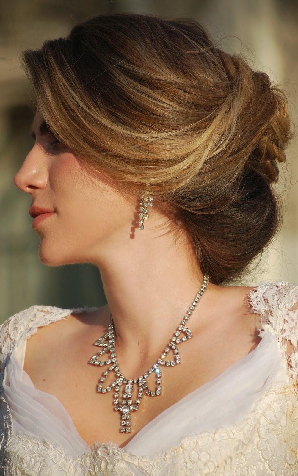 wedding hairstyles for long hair off to the side