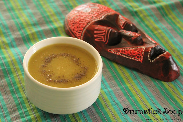 images of Drumstick Soup Recipe / Murungakkai Soup Recipe / Moringa Soup Recipe - Healthy Soup Recipe