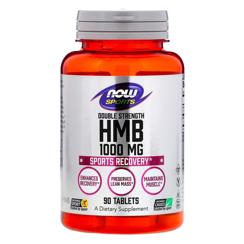 Now Foods, Sports, HMB, Double Strength, 1,000 mg, 90 Tablets
