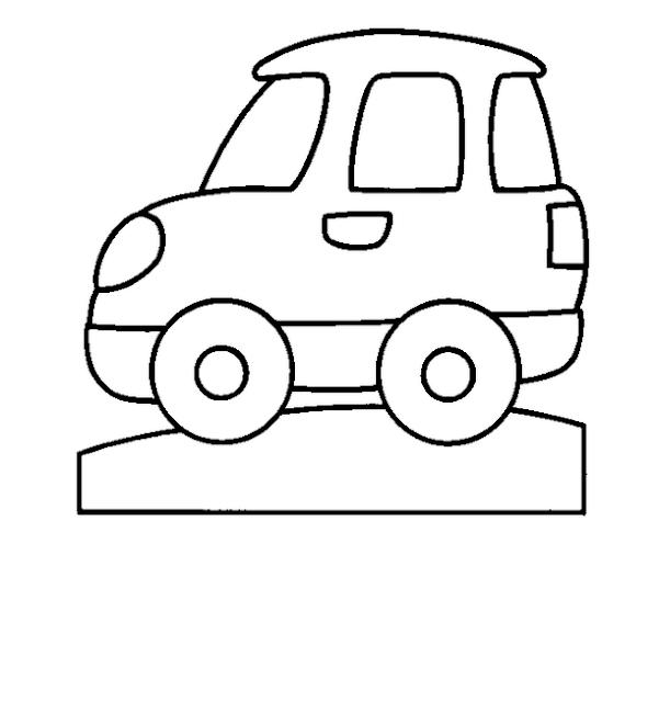 imagenes de carros para colorear faciles
