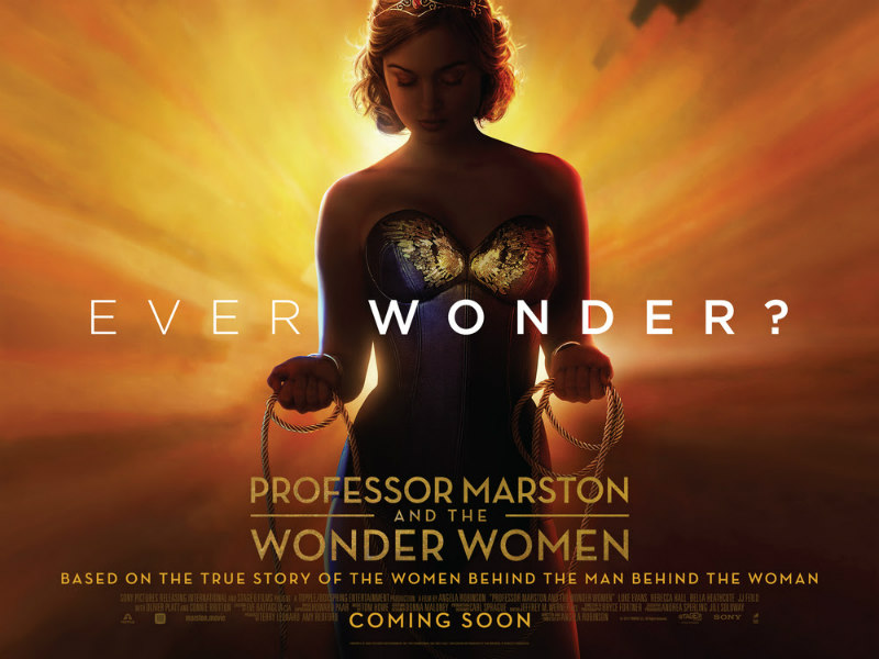 PROFESSOR MARSTON AND THE WONDER WOMEN uk poster