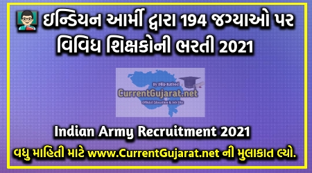 Indian Army Recruitment for 194 Posts 2021
