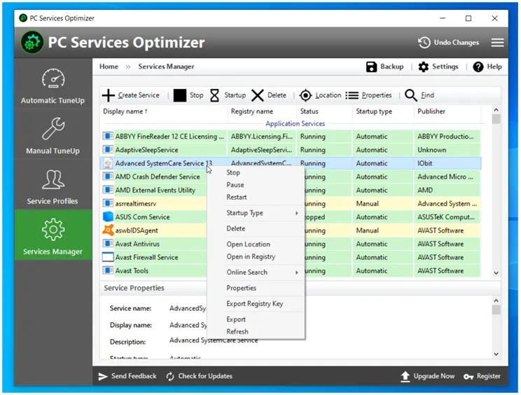 PC Services Optimizer :  Ρυθμίστε τις υπηρεσίες των Windows και βελτιστοποιήστε τον υπολογιστή σας με ένα κλικ