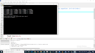 Write a C program to find the root of equation using Newton Raphson Method. Equation: 2x^3-6x^2+6x-1. pic 4