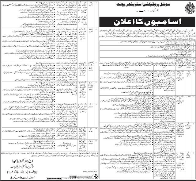 Jobs in Social Protection Strategy Unit, Government of Sindh