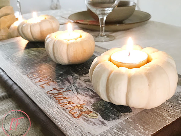 How To Turn Real Mini Pumpkins Into Tealight Holders