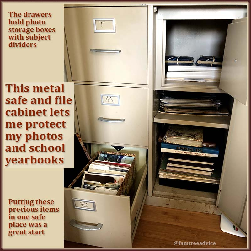 My family photos took a big step forward when I placed them all in a safe. But there's much more organizing to do.