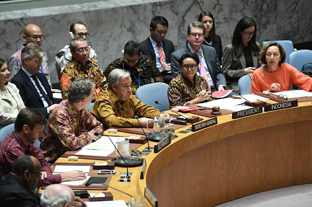 Dipimpin Menlu RI, Ragam Batik Mewarnai Sidang Dewan Keamanan PBB