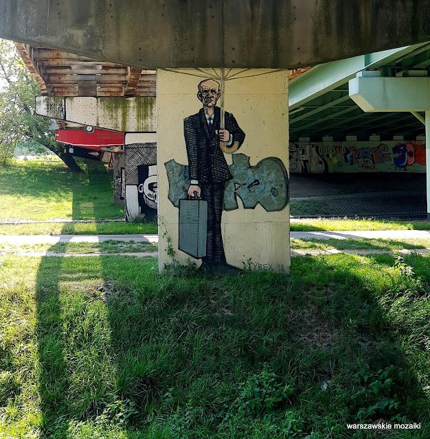 Warszawa Warsaw Mokotów filar wiaduktu mural streetart graffiti street