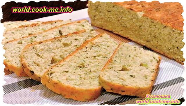 Домашний хлеба с зеленью - рецепт для мультиварки
