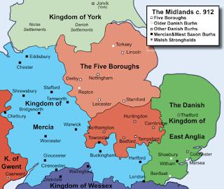 Los cinco condados del Danelaw