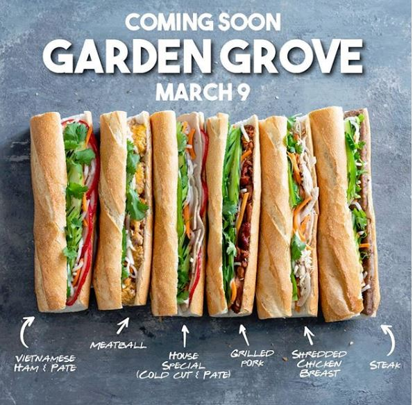 Mar. 9 | BOGO Free Banh Mi and Free Coffee @ THH Sandwiches Grand Opening - Garden Grove