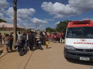 Acidente entre motos deixa feridos, em Cuité