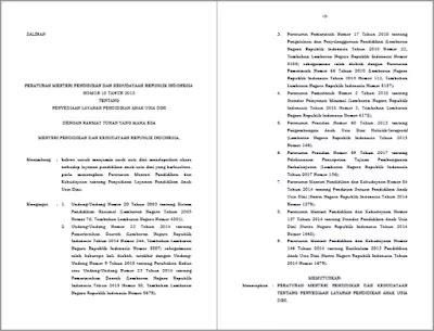 Permendikbud Nomor 18 Tahun 2018 Tentang Penyediaan Layanan PAUD