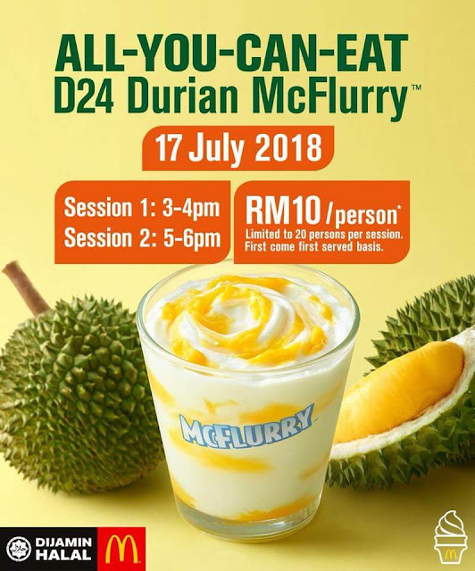 makan sampai puas All you can eat D24 Durian McFlurry