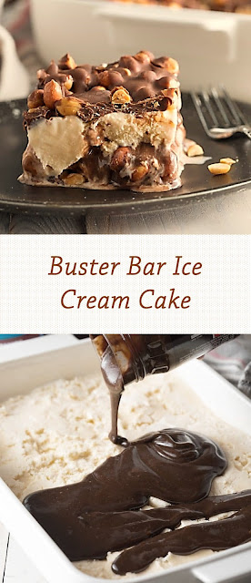 Buster Bar Ice Cream Cake
